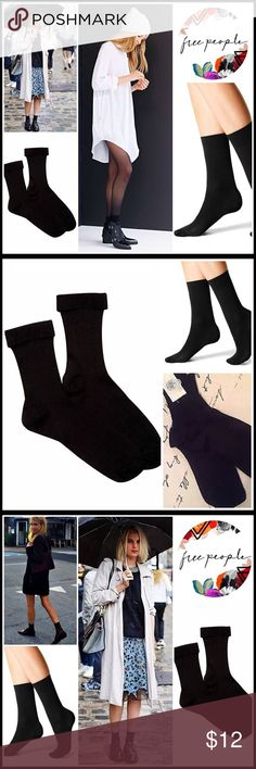 ⭐⭐ FREE PEOPLE BOOT SOCKS 💟NEW WITH TAGS💟  FREE PEOPLE BOOT SOCKS  * Super soft ribbed fabric  * Stretch-to-fit construction w/fold over cuffs  * Ankle/trouser length  * One size fits most, sock sizes 9-11  * Subtle metallic finish  * Machine wash FABRIC-98% nylon, 2% spandex COLOR-Black  ITEM#  ❌NO TRADES❌ ✅BUNDLE DISCOUNTS ✅ OFFERS CONSIDERED (Via the offer button only) Free People Accessories Hosiery & Socks