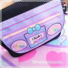 80s boombox Messenger Bag Kawaii Boombox Messenger Bag