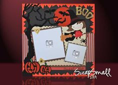 Halloween, Porta foto  bambina de 24x24cm