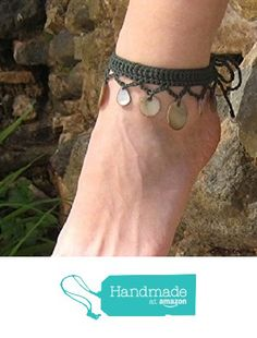 Fashion Anklets Bracelets - Add flare to your style, express your creativity Bracelet Crochet, Crochet Belt, Love Crochet, Crochet Stitches, Easy Crochet, Anklet Bracelet, Anklets, Crochet Barefoot Sandals, Handmade Silver Jewellery