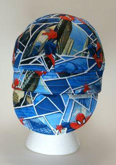 daa3c0bb7c5 Spiderman Breaking Glass Custom Welding Cap by JimmyCapsWeldingHats on Etsy  Welding Hats