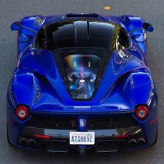 Ferrari LaFerrari painted in Blu Elettrico Photo taken by: @braydenjoelphoto on…