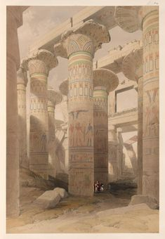 Reproduction oil paintings - David Roberts - Hall of Columns, Karnak, from Egypt and Nubia, Architect Jobs, Poster Prints, Art Prints, Ancient Egypt, Ancient Ruins, Ancient Art, Egyptian Art, Heritage Image, Illustrations