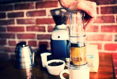 Aeropress via: Malala coffee #Aeropress #week #pourovercoffee #coffee Sacando el mejor sabor del cafe http://ift.tt/1Vbg53z