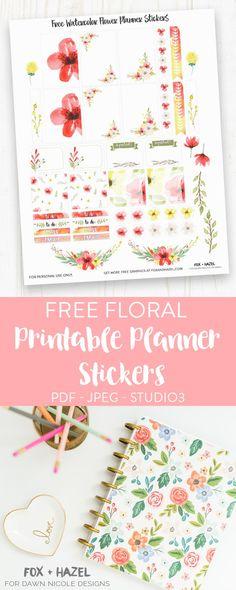 Free Planner Stickers Printable - Fox + Hazel for Dawn Nicole Designs-2