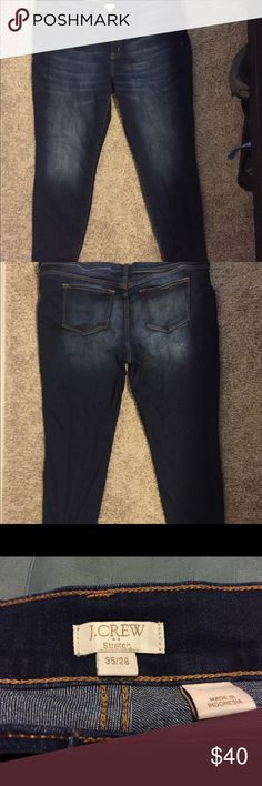 Jeans Extremely comfortable pair of jeans (with stretch) that you can easily dress up or down. The wash is slightly darker than medium. Worn 3 times. J. Crew Jeans Skinny