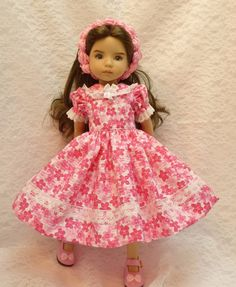 "Bright & Colorful Dress for Dianna Effner 13"" Little Darling Doll made by Apple"
