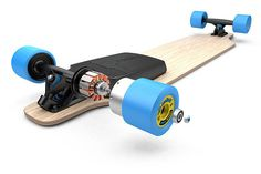 mellow in-wheel electric skateboard complete motor on longboard Electric Skateboard Kit, Motorized Skateboard, Skateboard Decks, Electric Motor, Electric Cars, Montain Bike, E Skate, E Mobility, Mechanical Design