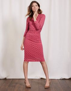 I love wrap dresses and the ruching looks like it would be flattering
