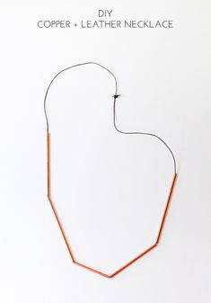DIY Copper + Leather Necklace - The Crafted Life