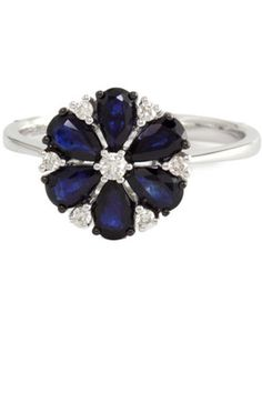 10 Stunning Engagement Rings For Any Bride (Or Bride Wannabe) #refinery29  http://www.refinery29.com/37557#slide4  Effy Collection Sapphire And Diamond Ring, $775, available at Lord & Taylor.