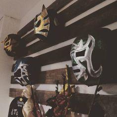 Máscaras de luchadores en @laquebradorazgz