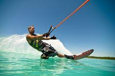 Radar slalom skis - love it Slalom Skiing, Wakeboarding, Water Sports, Sunny Days, Wood Signs, Boats, Hobbies, Scenery, Lifestyle