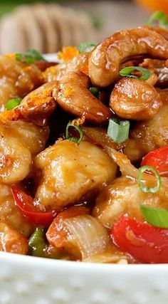 Sweet and spicy cashew chicken stir fry recipe
