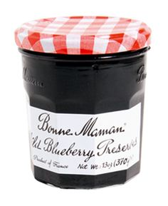bonne maman wild blueberry preserves - great with homemade 5 minute artisan bread i've pinned