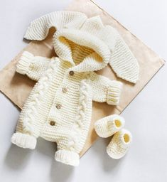 PATTERN Teddy Bears Outfits knitted Romper and Booties. PATTERN clothes for crochet bear. Knit romper for toy tutorial. PATTERN Teddy Bears Outfits knitted Romper and Booties. Teddy Bear Clothes, Knitted Baby Clothes, Cute Baby Clothes, Knitted Baby Outfits, Baby Knits, Baby Clothes Patterns, Baby Patterns, Clothing Patterns, Knitted Booties