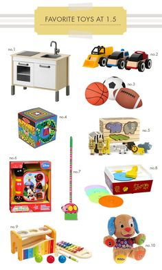 Favorite toys for toddlers - these are all perfect options for your 18-month  old