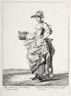 Will your honour buy a sweet nosegay or a memorandum book: 1760 Paul Sandby © Museum of London