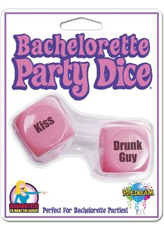 Bp Party Dice - Make the girls last night out an unforgettable one with these hilarious Bachelorette party favors. We design, create, and innovate the best novelties and party gifts in the world. Our pledge is simple: We guarantee to make `em laugh! It`s not a party without Pipedream Products!