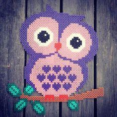 Owl hama perler beads by miag_stenungsund