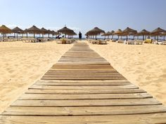 Beach in Vilamoura, Portugal. My first holiday abroad was spent here with hubby & my girls ( 7 & 27 years ago ! Portugal Places To Visit, Places To Go, Algarve, Vilamoura Portugal, Portugal Vacation, Stuff To Do, Things To Do, Portugal Holidays, Paradise On Earth