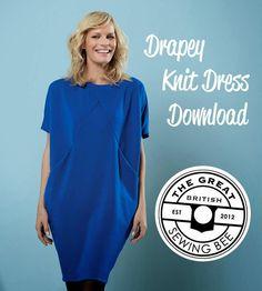 yo elijo coser: Patrón gratis: vestido drapeado en punto