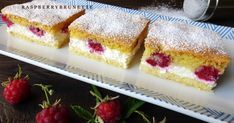 Tvarohovo malinový koláč Ale, French Toast, Cheesecake, Breakfast, Desserts, Food, Morning Coffee, Tailgate Desserts, Deserts