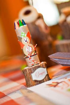 Kids' Thanksgiving party! See more party planning ideas at CatchMyParty.com!
