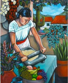 Mexican calender art