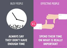 13 differences between busy and effective people - 7