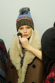 Backstage at Tommy Hilfiger RTW Fall 2014 [Photo by Rodin Banica]