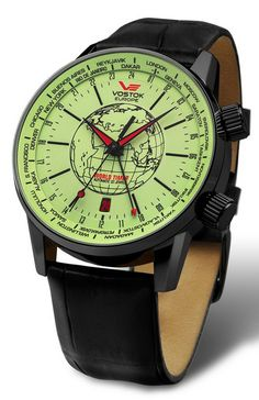 Vostok Europe GAZ-14 2426-5605240 Worldtimer automatic watch