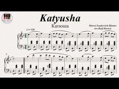 HSCC MUSIC, Piano Sheet Music, Katyusha (Катюша), PianoPiano Tutorial, Piano Sheet Music