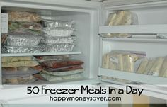 Moving farther away from a grocery store and restaurants means I need to get better about meal planning. Freezer meals will help!