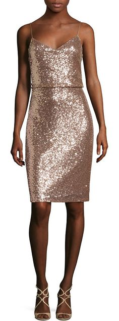 Emery sequin tulle dress by Jenny Yoo. Exquisite sequin details update this beautiful dress.V-neckline. Adjustable shoulder straps. Sleeveless. Concealed ba...