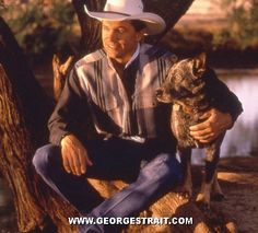 George Strait and his beloved dog, Buster, that was stolen from his ranch.