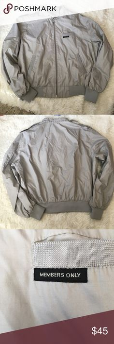 👕 Men's Members Only Jacket 👕 Men's Members Only Jacket. Size 46 = XL. Runs slim Fitting. Barely wornZ Members Only Jackets & Coats