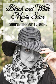 Black and White Movie Star Makeup  #HallowCleanFaceOff AD #Neutrogena @walmart