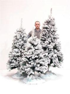 8ft Flocked Snow Tree