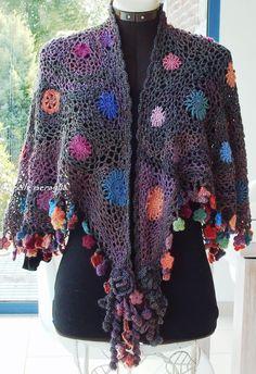 Aventures Textiles: Châle crochet