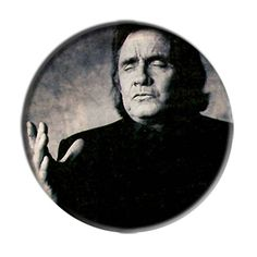 ONLY ONE Johnny Cash 2-1/4 Inch Button