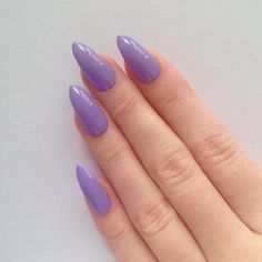 Lilac Stiletto nails, Fake nails, Stiletto nails, Press on stiletto... ($17) ❤ liked on Polyvore featuring beauty products, nail care, nail treatments, nails and fungal nail treatment