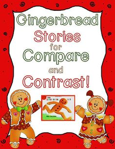 FREE Venn Diagram for Comparing & Contrasting Gingerbread Stories! - blog post of different gingerbread story versions that are great for teaching compare/contrast in kindergarten! Includes freebies!