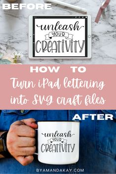 Take the hand lettering you create in Procreate, and turn it into an SVG file you can use for crafting. Perfect for turning hand lettering into Cricut Maker or Silhouette Cameo craft files #byamandakay #cricut #silhouette #svgfiles #handlettering #procreatetutorial Cricut Craft, Cricut Ideas, Lettering Tutorial, Hand Lettering, Beginner Calligraphy, Cricut Cuttlebug, Ipad Art, Cricut Creations, Illustrator Tutorials