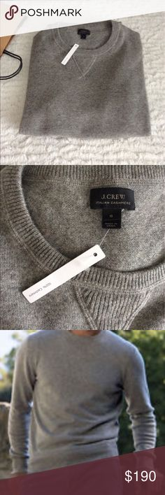 Authentic 100% Cashmere sweater New Authentic Italian cashmere Cashmere Sweaters Crewneck