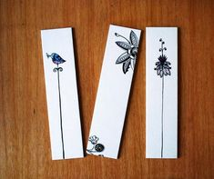 Items similar to Birds and Flowers Bookmarks. Set of 3 fine art print. on Etsy - Items similar to Birds and Flowers Bookmarks. Set of 3 fine art print. on Etsy - Bookmarks For Books, Creative Bookmarks, Cute Bookmarks, Crochet Bookmarks, Paper Bookmarks, Beaded Bookmarks, Watercolor Bookmarks, Watercolor Projects, Watercolour