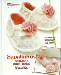 Artes da Lisandra: Sapatinhos de Bebê