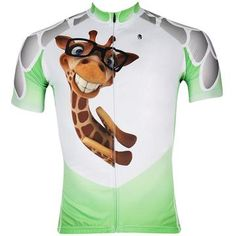c8867acea ILPALADINO Giraffe Men s Professional MTB Cycling Jersey Breathable and Quick  Dry Comfortable Bike Shirt for Summer