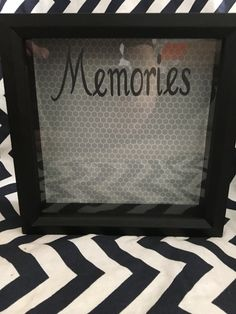 Shadow box ticket holder/memory keeper/photo by RoxysShoppe