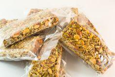 Paleo Honey Almond Chocolate Granola Bars - Vegetarian - Gluten Free - Grain Free - Unrefined Sugar Free - Kid friendly